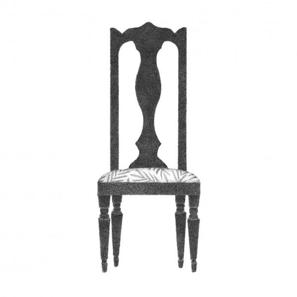 背の高い椅子